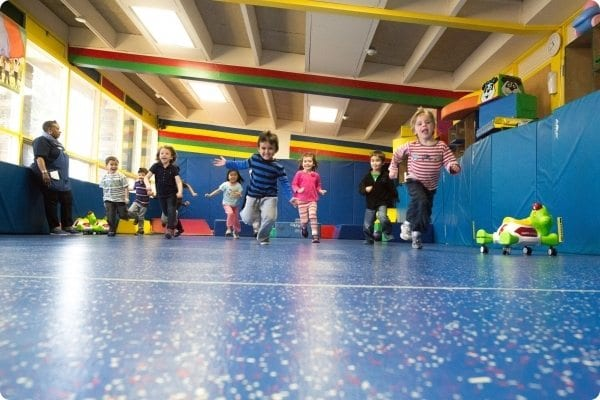 Kids Running at the Early Learning Center