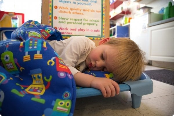 Nap Time at the Early Learning Center