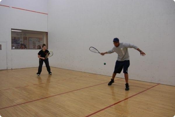 Men playing Racquetball